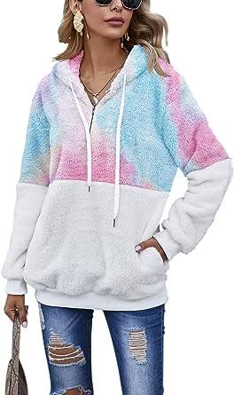 Romanstii Donna Felpe con Cappuccio Inverno Felpe Tumblr Ragazza Cool Pullover Felpa per Donna Oversize Sweatshirt