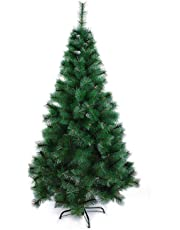 Theme My Party Artificial 6ft Christmas Tree Xmas Pine Tree with Solid Metal Legs,Light Weight, Perfect for Christmas Decoration (Green, 6 FT)