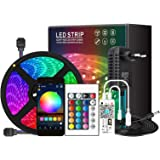 Galapara WiFi RGB LED Strip Lights, LED Strip Lights, 300 LEDs met IR-afstandsbediening & spraakbediening & timer kleurverand