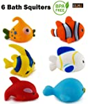 Storio Chu Chu Colorful Small Floating Bath Toys for Baby Aquatic Fish Animals Set of Toys for Kids Non Toxic BPA Free...