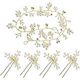 Haarschmuck Hochzeit Kopfschmuck Braut Haarnadeln Hochzeit Haardraht Brautschmuck Haare Perlen Vintage Strassbesatz Haarband