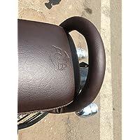 Sahara Gun Metal Coffee Brown Back Handle/Back Support for Royal Enfield Classic 350/500 (Gun Metal, Back Handle)
