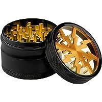 Lightning Grinder  Fancyli 4 Pieces 2 48 quot  Tobacco Grinder Spice Grinder Herb Grinder with a Cleaning Brush Gold