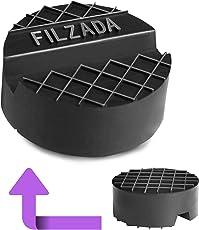 Filzada Wagenheber Gummiauflage kfz - [65mm x 25mm] - Universal für (Hydraulische) Rangierwagenheber - Robustes Gummi ALS Wagenheberaufnahme mit Nut für PKW und SUV bis 3,5t, Gummiauflage Wagenheber