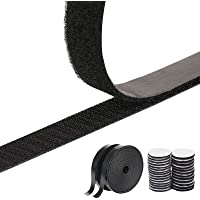 Adhesive Hook and Loop Tape, 2021 Upgraded 8M Double-Sided Sticky Tape with 40 Pairs Adhesive Pads, Reusable Self…