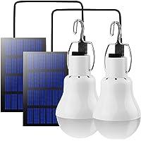 Beinhome LED Solar Glühbirne Solarlampen für Außen,Solar Laterne Camping Lampe Solar Hängelampe mit Solarpanel,3W Licht…