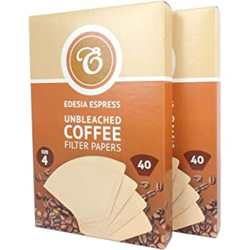 Unbleached by EDESIA ESPRESS 100 Size 3//102 Coffee Filter Paper Cones