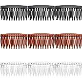 16 Pezzi Capelli Pettini Pettini di Plastica- Pettine per capelli laterale adatto per le donne,Spazzola per pettinino per cap