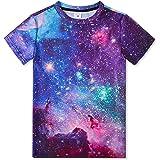 TUONROAD Camiseta para Niño Niña Unisex de Manga Corta T Shirt 6-14 Años