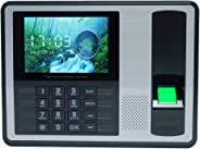 Biometric Fingerprint Password Attendance Machine Employee Checking-in Recorder 4 inch TFT LCD Screen DC 5V Time Attendance C