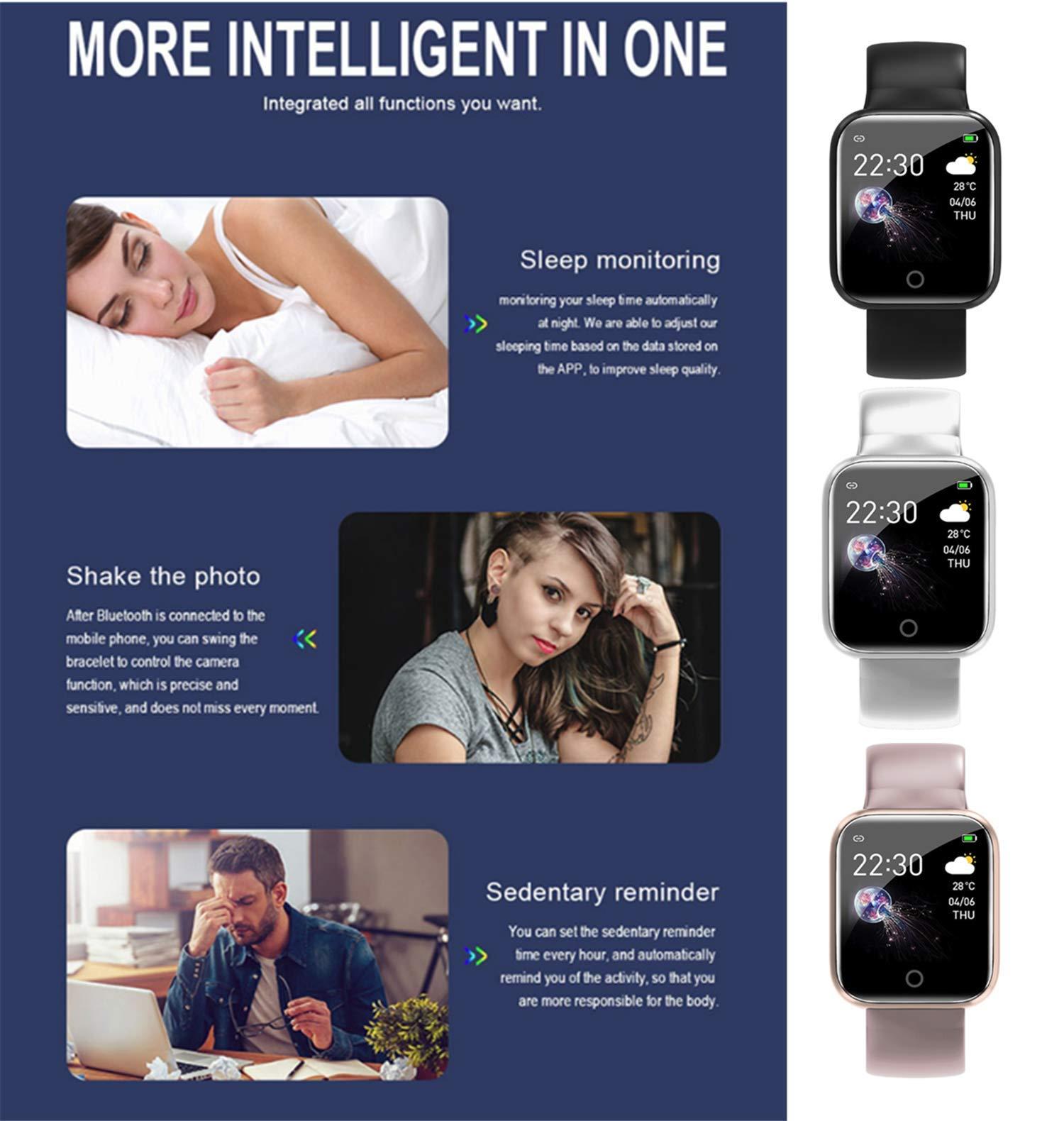 linyingdian Smartwatch, Reloj Inteligente Impermeable IP67 Pulsera de Actividad Inteligente con Monitor de Sueño Pulsómetros Podómetro Contador de Caloría, para Hombre Mujer niños 6