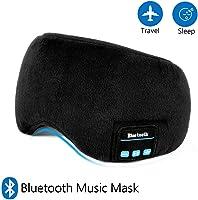 Bluetooth Sleep Eye Mask with Headphones, Sleeping Eye Shades Handsfree Music Headset Washable for Traveling(Upgrade)