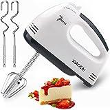Handmixer voor taarten, etensroerder met Turbo Boost/zelfregeling 7 versnellingen garde + 4 roestvrijstalen accessoires, taar