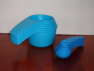 Tupperware Measuring Cup & Spoon Set Newest Design Blue