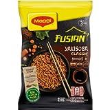 MAGGI Fusian Yakisoba Classico Noodles Istantanei con Verdure e Salsa con Soia, 8 Confezioni da 2 Porzioni