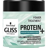 Gliss Schwarzkopf Trattamento 4in1 Protein + Maschera Idratante, 400 ml