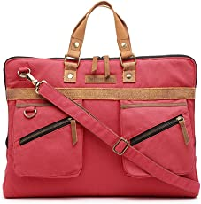 The House Of Tara Slim Laptop Bag (Coral Pink) HTLB 067