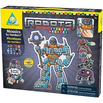 Orb Factory ORB64037 - Loisirs Créatifs - Robots - Mosaiques Autocollantes aux Numéros