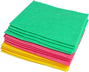 Jeval Multipurpose Absorbent Cleaning Wipes (Set of 12/Assorted Colors)