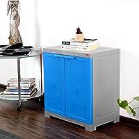 Cello Novelty Plastic Compact 2 Door Cupboard - Blue and Grey