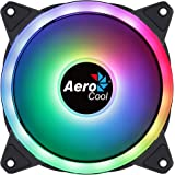Aerocool DUO12, Ventilador 120mm, ARGB LED Dual Ring, Antivibración, 6 Pines