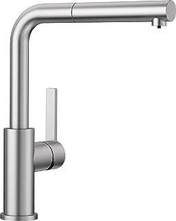 Kompakter Einhebelmischer Silgranit-Look in Alumetallic-Chrom mit ausziehbarer Schlauchbrause Blanco Alta-S Compact K/üchenarmatur Hochdruck