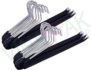 Vinayak Crafters 24 Pieces Steel Saree Hanger,Pants, Jeans Hanger, 10.3 cm X 39.5 cm X .7 cm