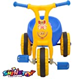 SHINETOY™ Entertain Kids Ducky Baby Tricycle Ride-on Bicycle, ABS Plastic, Unbreakable,for Boys and Girls, Blue Color, 1…