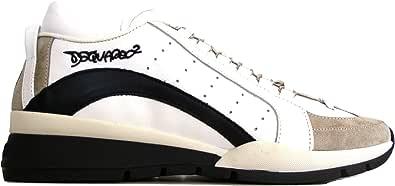 DSQUARED Scarpe Pelle e Tessuto Uomo Sneaker SNM0404 13220001 M072 Bianco Nero