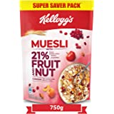 Kellogg's Muesli21%Fruit and Nut| Breakfast Cereal |High inIron|Source ofFibre |NaturallyCholesterol Free |750gPac