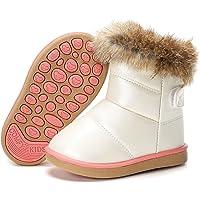 Stivali da Neve Ragazzi Ragazze Scarpe Stivaletti Invernali con Imbottitura Calda Impermeabili Unisex – Bambini 21-30