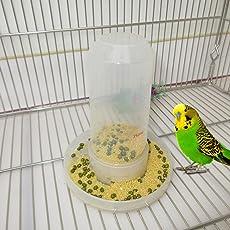 Moonbrid 1 Stück Automatische Futterspender,Vogel Wasser Spender, Bird Feeder Stand,Wasser Spender für Parrot Aras African Greys Wellensittiche Sittiche Vogelkäfig 13cm (5,12 in)