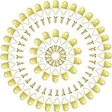 YFaith 50 stuks fotolijsten ophanghaken, driehoekhaken, fotohangers, haken, fotolijsten, hanghaken, foto's, met schroeven, vo