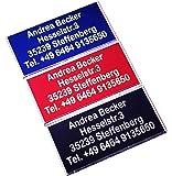 Andrea Becker Onlinehandel MB 30x15 mit Facette - Drohnen-Plakette, Kennzeichnung, Schild, Namensschild, Adressschild (Rot)