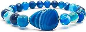 Bracciale Uomo Donna Elastico Da Vere Pietre Preziose Naturali Di 8mm Reiki Idea Regalo Di Compleanno Originale Diffusore Di Energia Guarigione Equilibrio