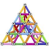 مجموعة مكعبات وعصي بناء مغناطيسية مكونة من 101 قطعة من لابويا، ألعاب تعليمية مغناطيسية للاطفال والكبار، مجموعة العاب التكديس