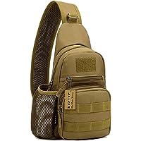 HUNTVP Taktisch Brusttasche Military Schultertasche mit Wasserflasche Halter Chest Sling Pack Molle Armee Crossbody Bag…