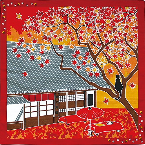 Furoshiki Kleine Grose%¶ÝÏ% Japanische Geschenkpapier%¶ÝÏ% Reisen-Cat %ÀÞÌÞÙ¸«°Ã%Autumn Leaves Momiji November Autumn Leaves Teller