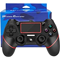 Controller wireless per PS4, DYBITTS controller joystick gamepad giroscopio a 6 assi e jack audio con vibrazione Dual…