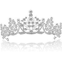 ZWOOS Tiara Corona di Cristallo, Wedding Tiara Nuziale Principessa Corona per Cerimonia Nuziale, Proms, Compleanno…