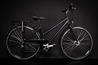 "28"" Zoll Alu MIFA Damen Trekkingbike Fahrrad Shimano 21 Gang Nabendynamo schwarz Rh 45cm"