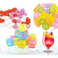 36x glaçons réutilisables et colorés - en plastique de moule à glaçons sans BPA - plastique pour refroidir les boissons…