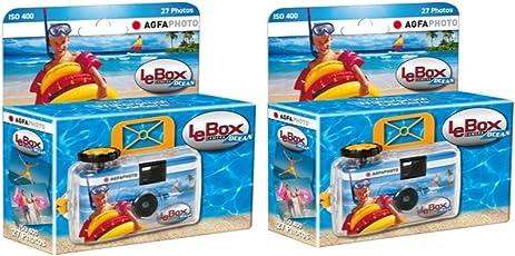 AgfaPhoto LeBox Ocean Einwegkamera Wasserdicht (2-er Set bis zu 54 Aufnahmen)