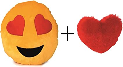 Nitsha Emoji Heart Eye Smile Pillow Pack-2