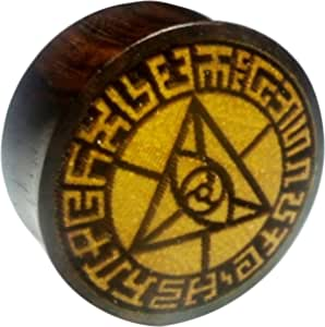 Chic-Net Flesh Plug occhio triangolare, bordo in legno di sono, frutto della giacca, dilatatore, dilatatore, unisex, marrone chiaro scuro