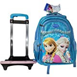 """Frozen School Bag Backpack with Removable Trolley 18"""" For Girls AS-1770 Blue"""