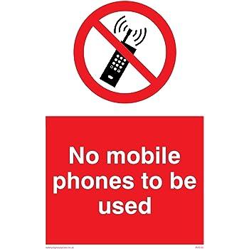 Safety Sign No Mobile Phones Symbol Amazon Co Uk