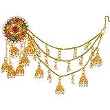 Handicraft Kottage Gold Plated Jhumki Earrings for Women (Golden) (HK_Bahubali Earrings_121)