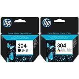 Noir et cartouche d'encre HP 3–pour imprimantes HP Deskjet 3720–cartouche d'encre d'origine