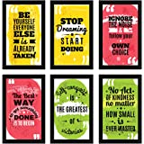 ArtX Paper Motivational Posters Wall Art Painting, Multicolor, Motivational, 8.5X13.5 in, Set of 6